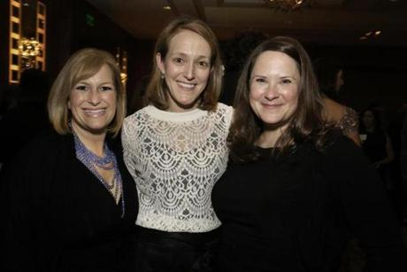 2-6-2015 Boston, Mass. 400 guests attended Veterans Legal Services Annual Gala held at the Mandarin Oriental Hotel. L. to R. are Diane Popeo of South Boston, Allison Popeo of Charlestown and Anne Dodson of Richmond, Va. Globe photo by Bill Brett